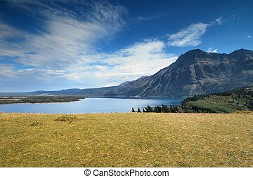 Waterton National Park in Canada - View from the grassy lawn...