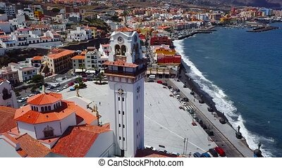 View from the height of the Basilica and townscape in...