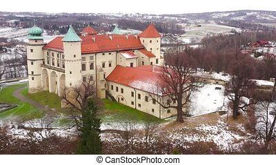 View from the height of the castle in Nowy Wisnicz in...