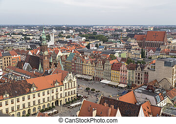 central square of the city of Wroclaw