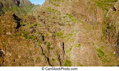 View from the height of the rocks in the Masca, Tenerife,...