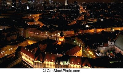 View from the height of the royal castle in the old town at...