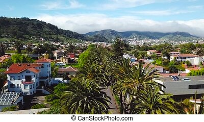 View from the height on townscape San Cristobal De La...