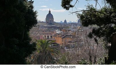 View from the hill Pincio. Rome, Italy