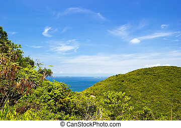 View from the mountain at Lan island