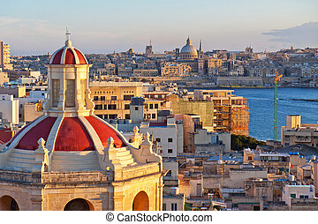 View from The Palace Hotel in Sliema with the churchs roof...