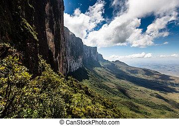 View from the plateau Roraima to Gran Sabana region -...