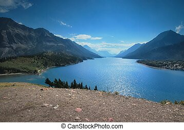 Waterton National Park in Canada - View from the Prince of...