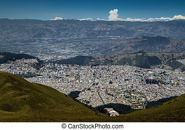 Quito, Ecuador - View from the Quito's TeleferiQo. The...