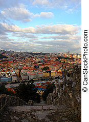View from the Saint George's Castle at Lisbon, Portugal