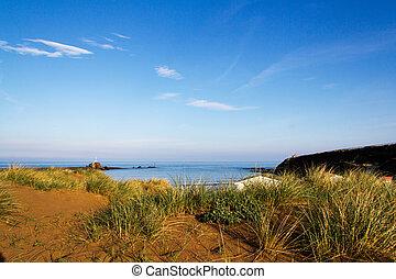View from the sand dunes on Bude seafront