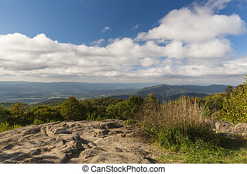 View from the Skyline Drive in Virginia