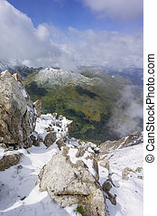 View from the summit of Aroser Weisshorn