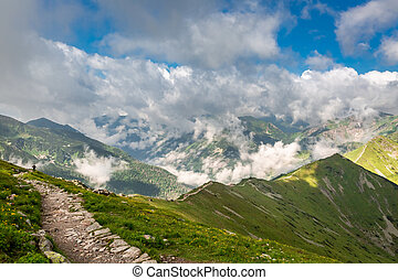 View from the top of Kasprowy Wierch in summer, Poland