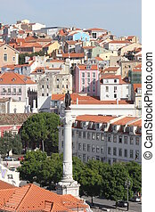 View from the top of Lisbon