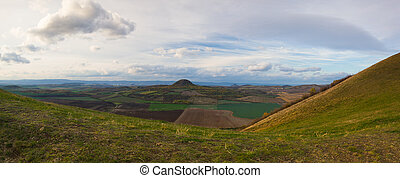 View from the top of Rana hill. Czech Republic