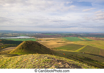 View from the top of Rana hill. Czech Republic - View from...
