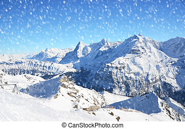 View from the top of Schilthorn, Switzerland