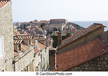 view from the top of the ancient city of Dubrovnik