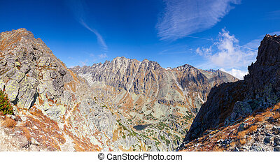View from the top of the mountain in the High Tatras, Slovakia
