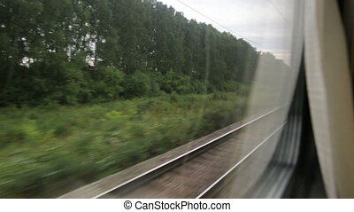 View from the train's window