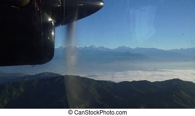 View from the window of a low flying aircraft