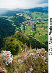 view from Three Crowns hill (polish: Trzy Korony) in south...