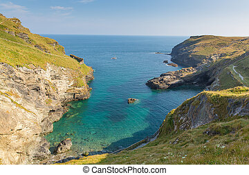 View from Tintagel castle Cornwall