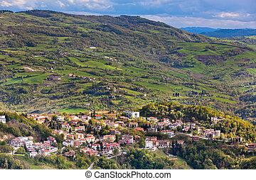 View from Titano mountain, San Marino at neighborhood