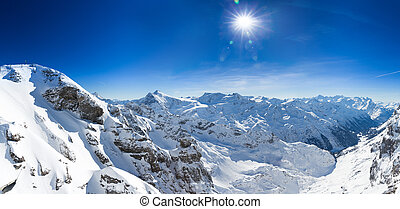 View from Titlis mountain towards the South - Beautiful view...