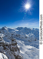 View from Titlis to the South - Beautiful view from the...