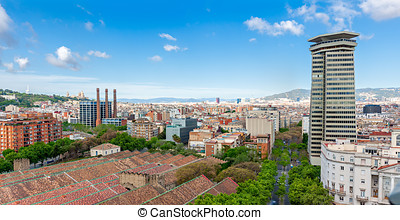 View from top of Columbus Statue in Barcelona