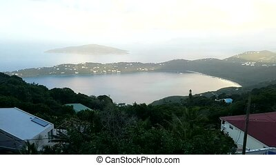 View from top on St Thomas Virgin Islands