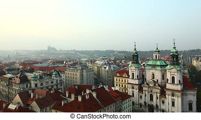 View from tower on prague cental square