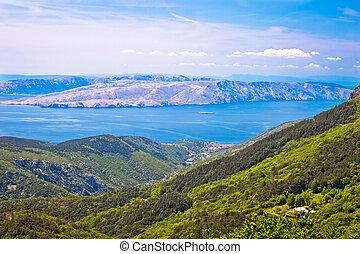 View from Velebit mountain on Senj