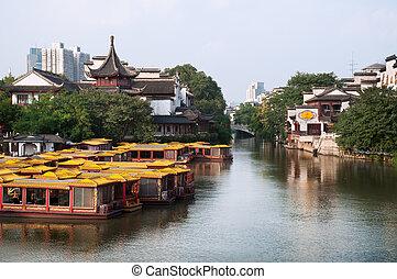 View from Wende Bridge, Confucius Temple Scenic Area,...