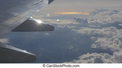 View from window of plane