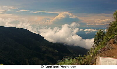 View from World's End National Park in Sri Lanka - View from...