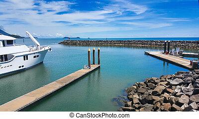 view from Yorkeys Knob marina