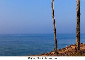 View high cliff sea