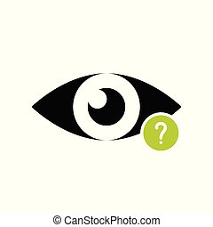 View icon with question mark. View icon and help, how to, info, query symbol. Vector illustration