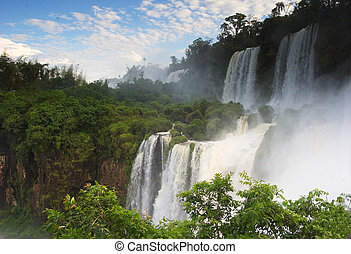 View, Iguazu Falls in South America