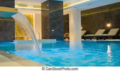 view inside the room with a swimming pool - hydrotherapy in...
