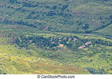 View into Kwazulu-Natal. Thendele Camp is visible - View ...
