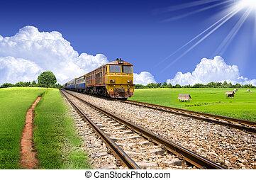View is beautiful on Thai Railway