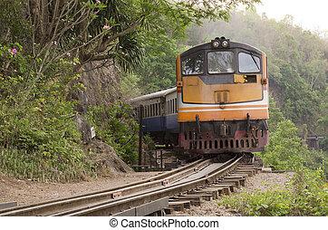 View is beautiful on Thai Railway.