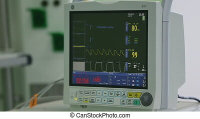 view Monitoring of patient's condition, vital signs on ICU...