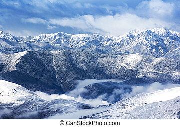 view mountain snow landscape