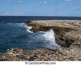 View Near Devils Bridge on Antigua
