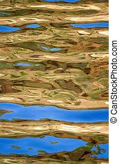 background texture of golden wate